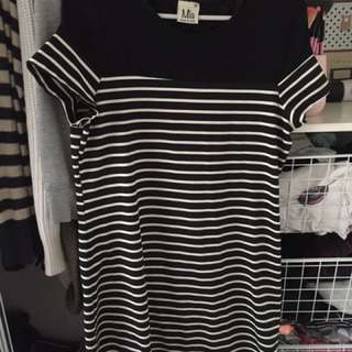 Black And White Casual Dress