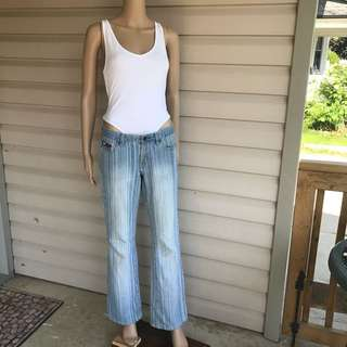 90s Ladies Tommy Jeans Size 9 Low Rise Flare