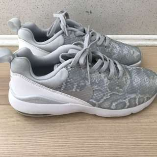 Nike Air Mac Siren Shoes Silver White Leopard Women's 6.5