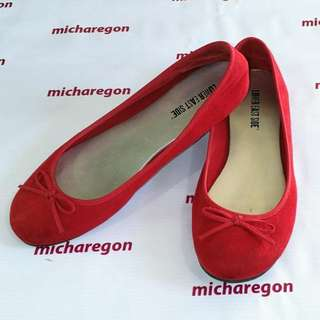 Sz 8.5 Payless Suede Red Flats