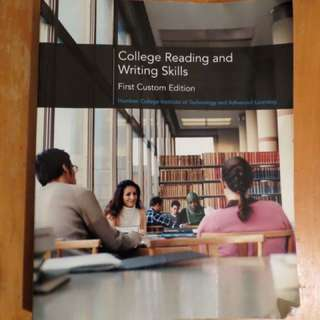 Humber College WRITT 100: Reading And Writing Skills Textbook