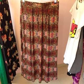 Everybody Talks Multicolour Maxi Skirt
