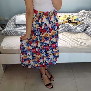 Stitches Item Floral Skirt