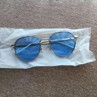 Blue Lens UV Sunglasses