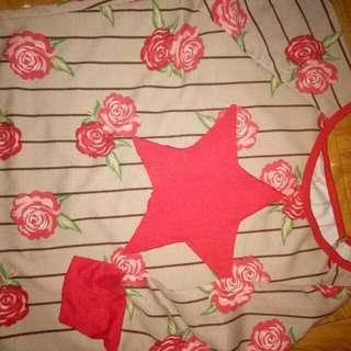 Floral Long Sleeve Crop Top