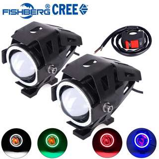 Motorcycle LED Headlight Fog Light With Switch CREE LED Chip U7
