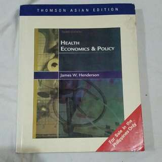 Health Economics And Policy