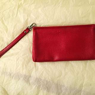 Red Leather Wallet/ Pouch