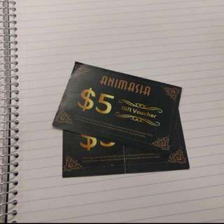 Animasia Gift Vouchers