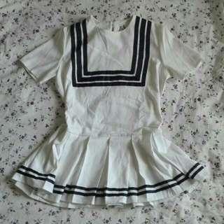 White Japanese school dress