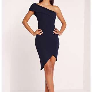 Missguided Bodycon Navy Dress
