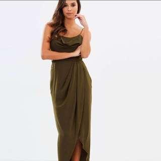 Shona Joy Khaki Formal Dress -size 8