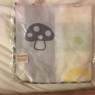 Hoppetta 蘑菇多功能紗布巾/洗澡巾 兩件組
