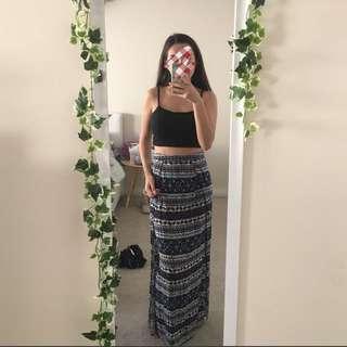 printed maxi skirt 🌻