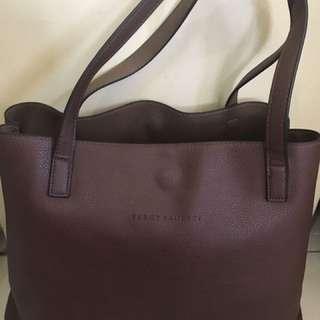 Percy Laureti Leather Reversible Bag