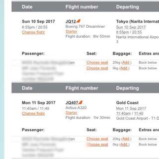 Japan Tickets For2