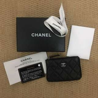 Chanel Coin/key Zip Purse Pouch