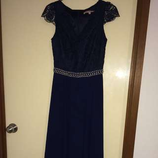 Review Formal Dress (Navy)