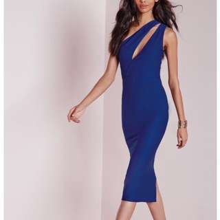 Missguided One Shoulder Bodycon Midi Dress