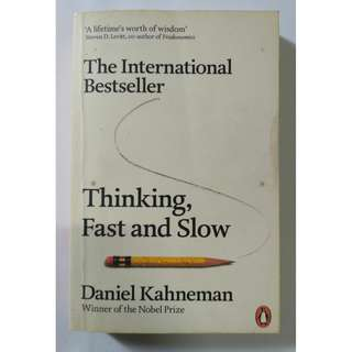 Thinking, Fast and Slow Book by Daniel Kahneman