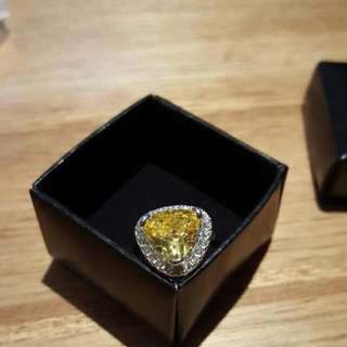 Bold Cushioned Triangle CZ Ring