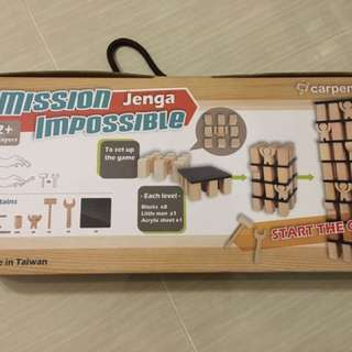 Mission Jenga Impossible STEM 教學益智玩具 力學 運用工具 積木 層層疊