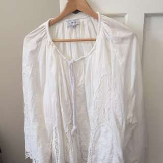 Princess Polly Lioness Blouse Top Size Medium