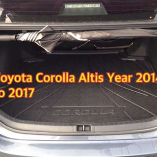 Toyota Corolla Altis Rear Cargo Trunk Tray