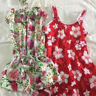 Flowery Romper And Dress