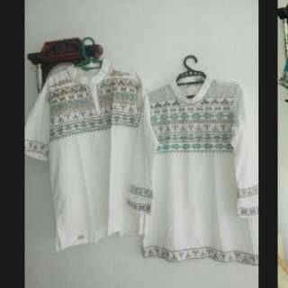Tunik Koko Couple Albis Ori