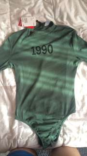 1990 Army Green Bodysuit