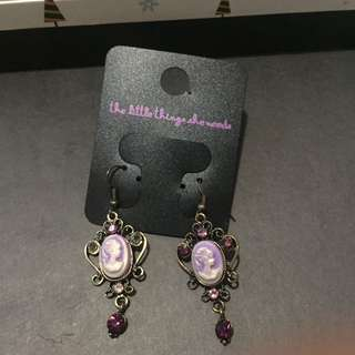 Purple Vintage Earrings