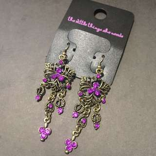 Purple Ethnic Earrings