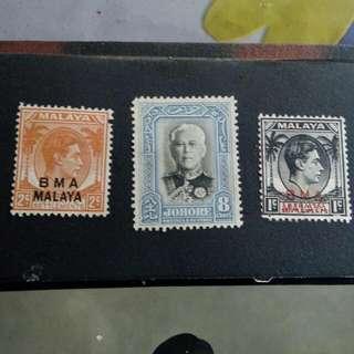 johore stamps very rare (unused)