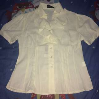 Shirt Blouse The Executive L Broken White