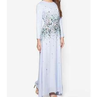 Zalia Blue Floral Maxi Dress Size S