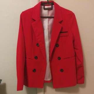 Chic Red Blazer