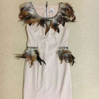 Feather Pink Dress