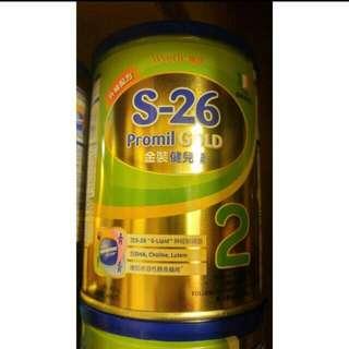 新裝 s26 Promil Gold 健兒樂 2號 400g