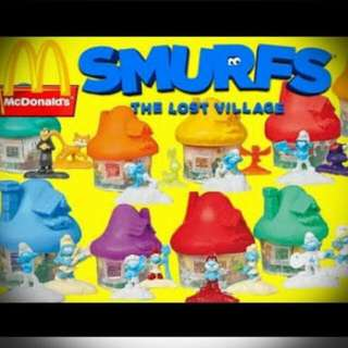 Happy Meal Toys Complete Set SMURFS Lost Village (2017)