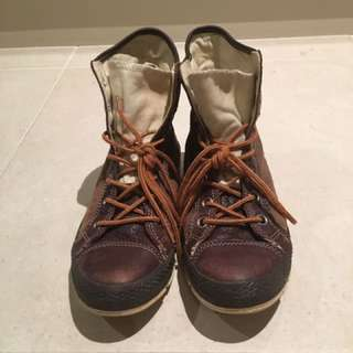 Converse Combat Boots In Soft Leather