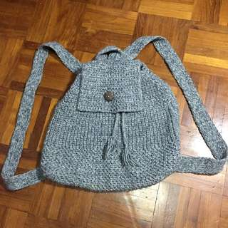 Grey Knitted Bag