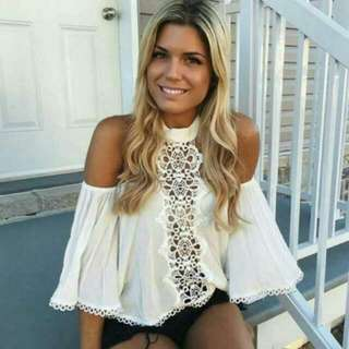 LOOKING FOR. Lace Off Shoulder