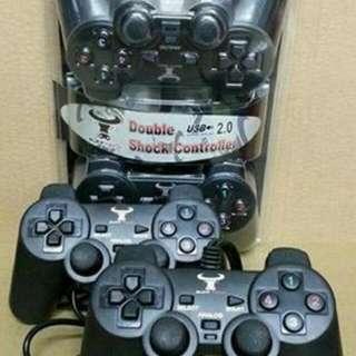 Stik Joystik Gamepad Double Untuk Pc Analog Buffech
