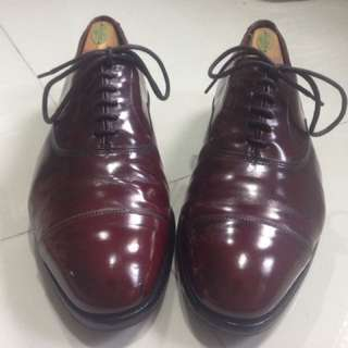 Allen Edmonds Park Ave Shell Cordovan (US10Extra Wide)(Oxblood) With Shoe Trees