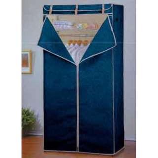 【南洋風休閒傢俱】衣架系列-鍍鉻衣櫥架(附布套)  簡易衣櫥 活動衣櫥 組合式衣櫥 布衣櫥YT 490