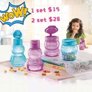 Tupperware Eco Snack Cup Set