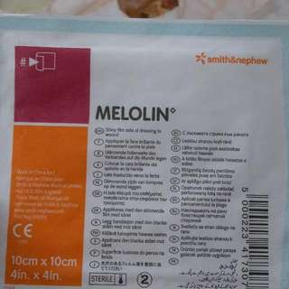 Melolin Non Adherent Dressing 10x10cm