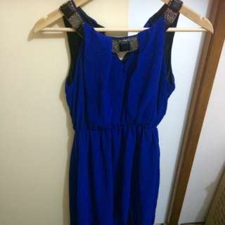 Sexy Blue Dress, Long Back
