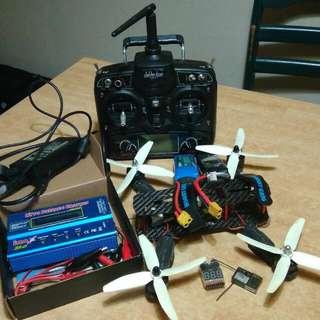 QAV 250 Quadcopter (Drone) + Walkera Devo 7 Transmitter (Remote) + Imax D6 Fast Charger